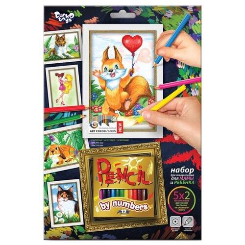 Фото - Danko Toys Набор картин по номерам Белочка (PBN-01-06) danko toys раскраска по номерам pencil by numbers девочка