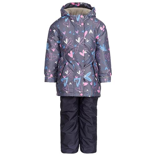 Комплект с полукомбинезоном Oldos Jicco Алана JAW192T1SU74 размер 140, серый куртка для девочки jicco by oldos ирма цвет малиновый 2j8jk01 размер 104 4 года