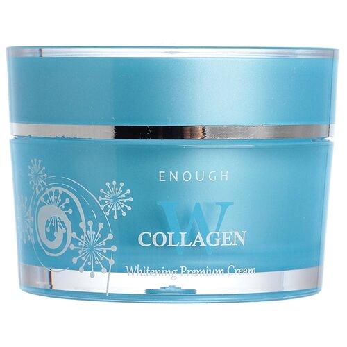 Фото - Enough W Collagen Whitening Premium Cream Осветляющий крем для лица с морским коллагеном и мёдом, 50 мл осветляющий крем для век с коллагеном enough w collagen whitening premium eye cream