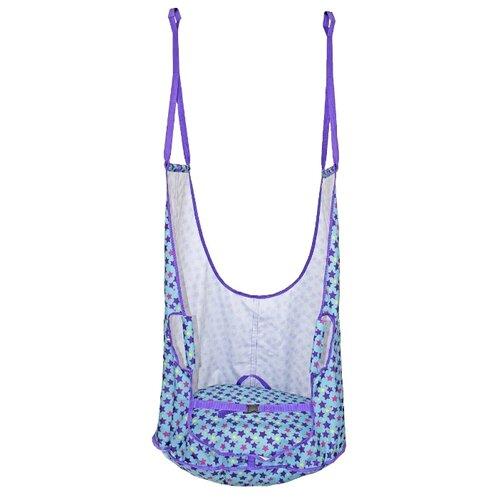 Подвесное кресло Belon familia Звезды КА-003-З, голубой/фиолетовый