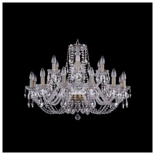 Люстра Bohemia Ivele Crystal 1406 1406/12+6/300/Pa, E14, 720 Вт люстра bohemia ivele crystal 1406 1406 12 300 pa