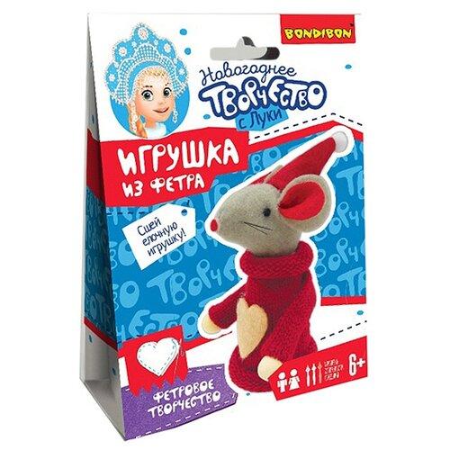 Купить Набор для творчества Ёлочные игрушки своими руками. Мышка , BONDIBON, Изготовление кукол и игрушек