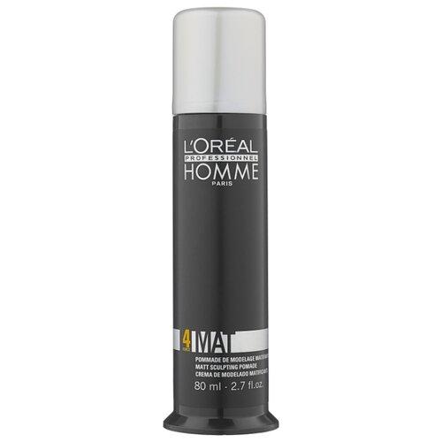 Купить L'Oreal Professionnel Матирующая крем-паста Homme Mat, средняя фиксация, 80 мл