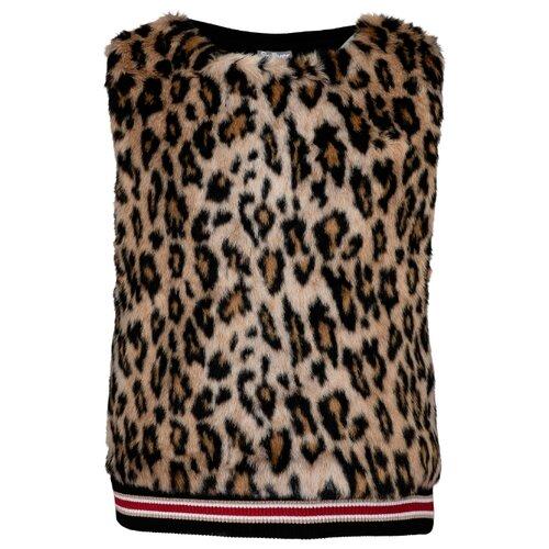 Жилет Gulliver 21908GJC4701 размер 146, леопардовый брюки gulliver 21908gjc6405 размер 146 леопардовый