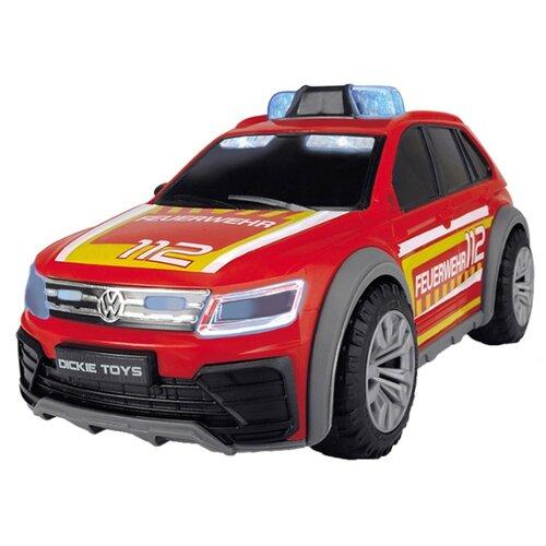 Фото - Внедорожник Dickie Toys Пожарная машина VW Tiguan R-Line (3714016) 1:18 25 см красный/желтый погрузчик dickie toys дорожно погрузочная машина 3726000 35 см желтый белый
