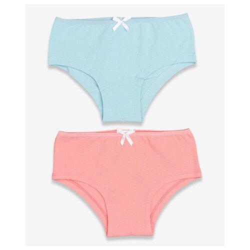Купить Трусики Button Blue 2 шт., размер 128-134, розовый/голубой, Белье и купальники