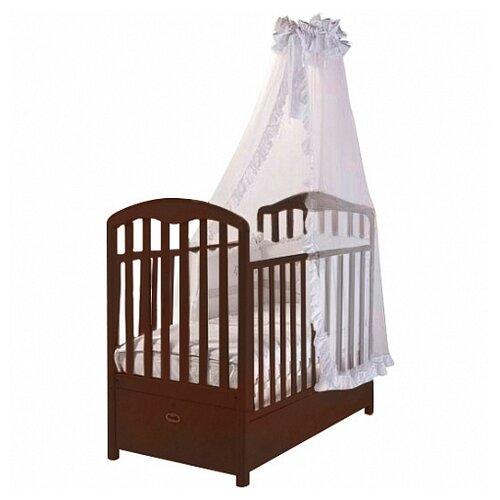 Купить Кроватка Feretti Elegance FMS (классическая), продольный маятник темный орех, Кроватки