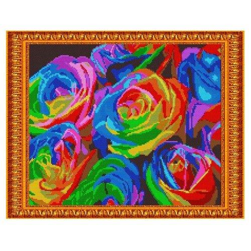 Светлица Набор для вышивания бисером Радужные розы 38 х 30 см, бисер Чехия (582П)