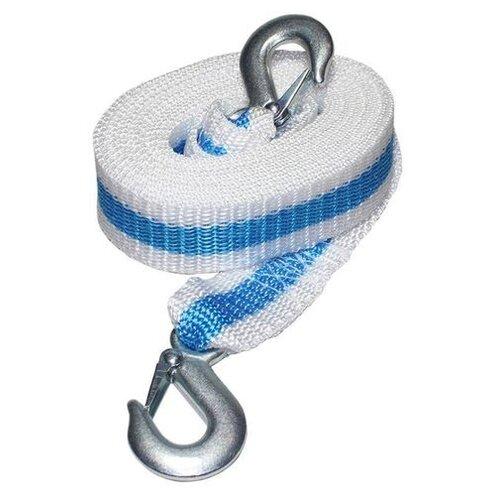 Ленточный буксировочный трос Сигма 9164926 5 м (6 т) белый/голубой