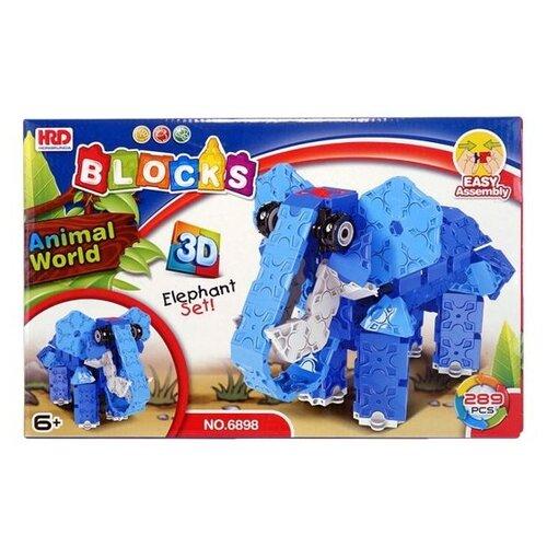 Конструктор Shantou Gepai HRD BLOCKS 6898 3D Слон магнитный конструктор shantou gepai играй и создавай 56 элементов