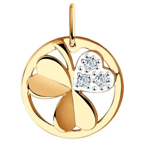 Diamant Подвеска из золота с фианитами 51-130-00669-1
