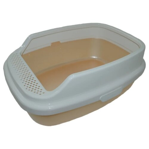 Туалет-лоток для кошек Homecat De Luxe 53х39х23 см бежевый перламутр