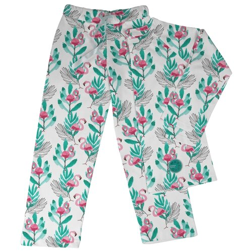 Пижама Marengo Textile размер 152, белый/розовый/зеленый платье oodji ultra цвет красный белый 14001071 13 46148 4512s размер xs 42 170