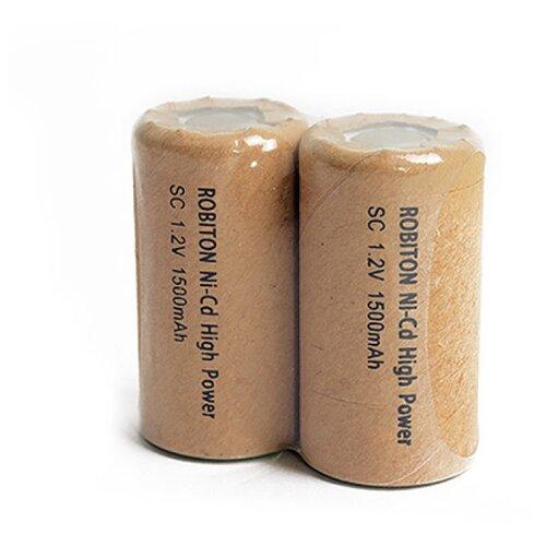 Фото - Аккумулятор Ni-Cd 1500 мА·ч ROBITON 1500NCSC, 2 шт. аккумулятор li ion 550 ма·ч robiton 16340 кол во в упаковке 2 шт