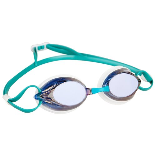 Очки для плавания MAD WAVE Spurt Rainbow azure/white очки для плавания mad wave triathlon azure clear black