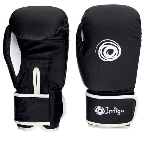 Боксерские перчатки Indigo PS-790 черный 10 oz