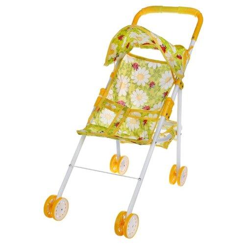 Прогулочная коляска Yako Ромашки M7258-2 желтый/зеленый, Коляски для кукол  - купить со скидкой