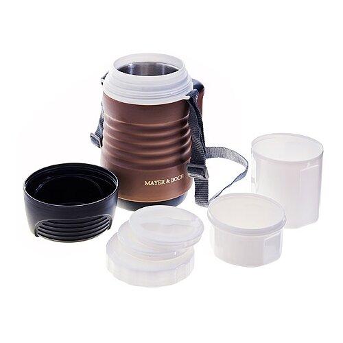 Фото - Термос для еды MAYER & BOCH 29075, 0.7 л черный/коричневый термос для еды mayer and boch 1 8 л 23719