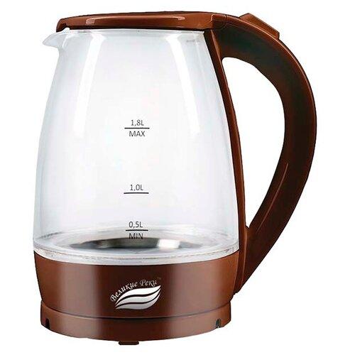 Чайник Великие реки Дон-1, коричневый чайник электрический великие реки дон 1 1850вт белый