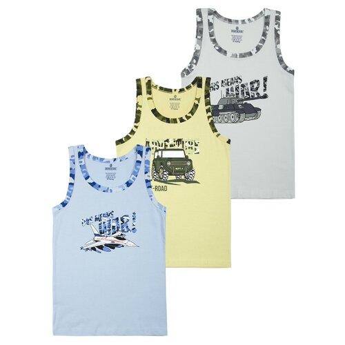 Купить Майка BAYKAR 3 шт., размер 158/164, серый/желтый/голубой, Белье и пляжная мода