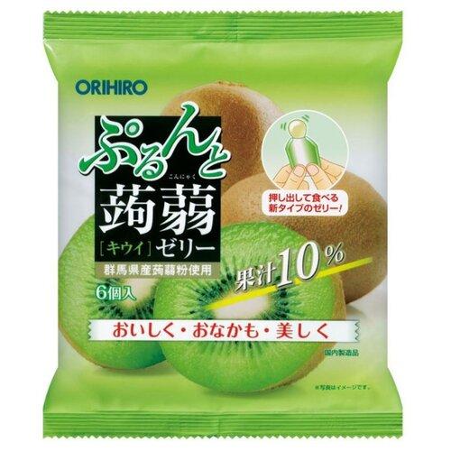 Желе Orihiro из конняку Киви 0%, 6 шт.