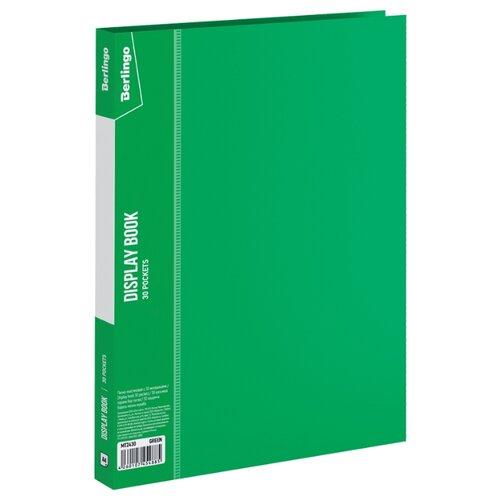 Купить Berlingo Папка с 30 вкладышами Standard, 17 мм, 600 мкм, пластик зеленый, Файлы и папки