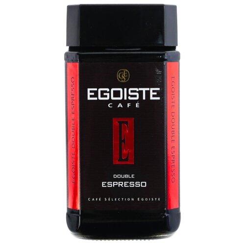 Кофе растворимый Egoiste Double Espresso сублимированный, стеклянная банка, 100 г кофе egoiste кофе растворимый сублимированный very special 100 г