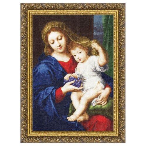 Фото - Золотое Руно Набор для вышивания Мадонна с виноградом 47,4 х 33,1 см (МК-030) набор для вышивания золотое руно гм 037 булгаковская осень
