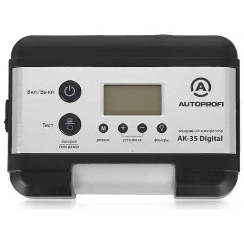 Автомобильный компрессор AUTOPROFI AK-35 Digital серебристый