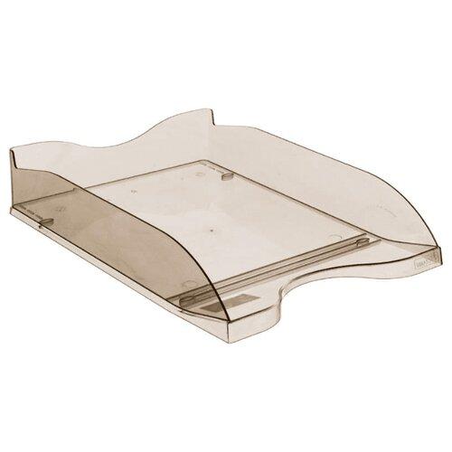 Купить Лоток горизонтальный для бумаги СТАММ Люкс тонированный/коричневый, Лотки для бумаги
