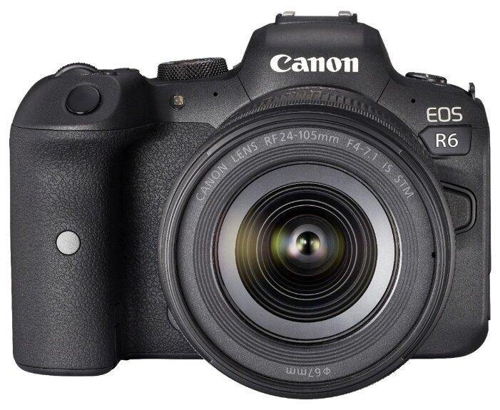 Фотоаппарат Canon EOS R6 Kit черный RF 24-105mm f/4-7.1 IS STM фото 1