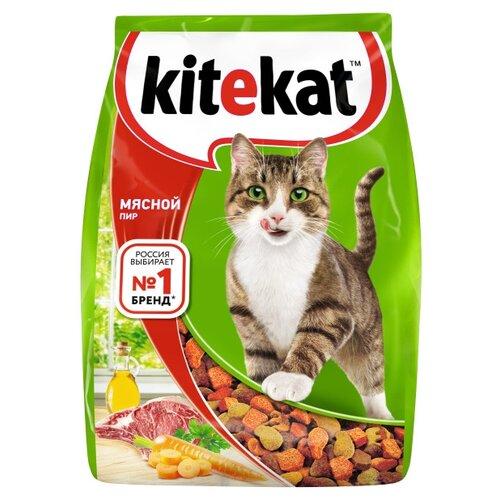 Фото - Сухой корм для кошек Kitekat Мясной Пир 1.9 кг kitekat мясной пир для взрослых кошек 1 9 1 9 кг