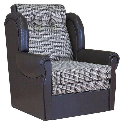 Кресло-кровать Шарм-Дизайн Классика М размер: 87х83 см, , размер спального места: 199х62 см, обивка: комбинированная, цвет: рогожка коричневый