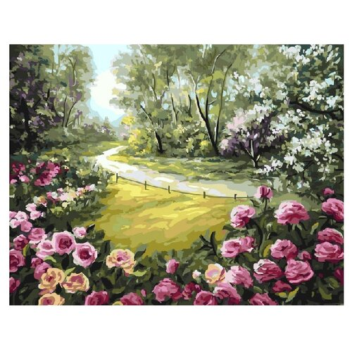 ВанГогВоМне Картина по номерам Розы у дороги , 40х50 см (ZX 10029), Картины по номерам и контурам  - купить со скидкой