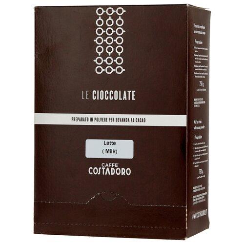 горячий шоколад caffe diemme classic chocolate 1 кг Costadoro Le Cioccolate Milk Chocolate Горячий шоколад растворимый Молочный в пакетиках, 25 шт.