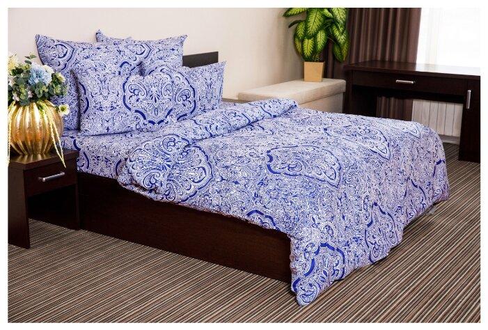 Постельное белье 2-спальное Ночь Нежна Таксим 70х70 см, поплин синий