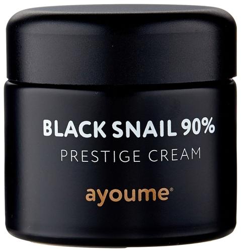 Ayoume Black Snail 90% Prestige Cream Крем для лица с муцином черной улитки