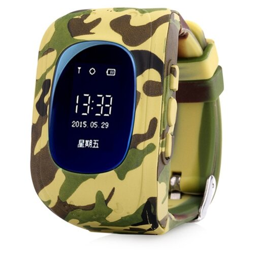Детские умные часы NUOBI Q50, желтый камуфляж