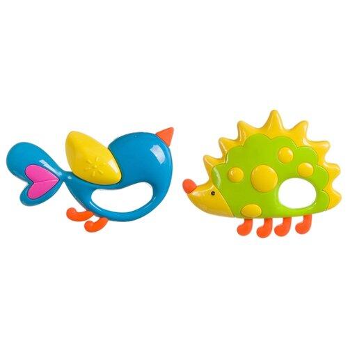 Купить Набор Elefantino Ежик и Птичка 7936 зеленый/голубой, Погремушки и прорезыватели