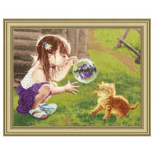 Фото - Золотое Руно Набор для вышивания Забавная игра 42,7 х 32,4 см (ЧМ-069) набор для вышивания золотое руно гм 037 булгаковская осень