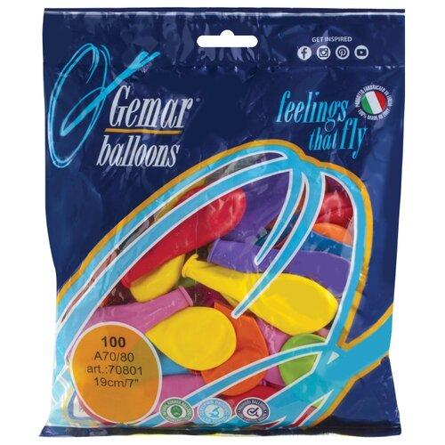 Фото - Набор воздушных шаров Веселая затея 1101-0022 (100 шт.) веселая затея салфетки весёлая затея радуга 33 33см 6 шт с фольгой