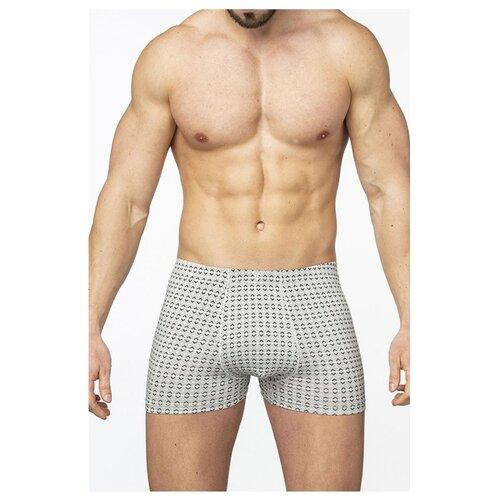 Salvador Dali Трусы боксеры с ромбовидным узором, размер XL, светло-серый трусы женские infinity lingerie tani цвет светло зеленый 31204121195 2200 размер xl 50