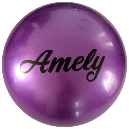 Мяч для художественной гимнастики Amely AGB-101 19 см фиолетовый