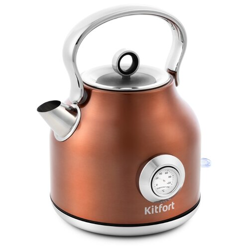 Чайник Kitfort КТ-673-5, бронзовый чайник kitfort кт 673 1 белый