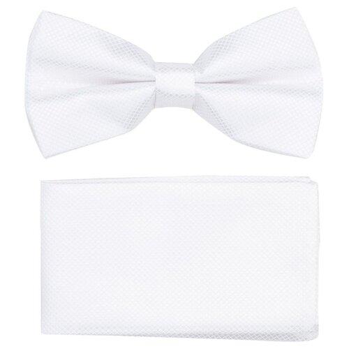 Комплект из 2 предметов OTOKODESIGN галстук-бабочка и платок 537/560 белый