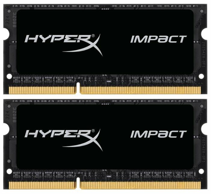 Оперативная память KINGSTON SO-DIMM DDR3L 16Gb (2x8Gb) 1600MHz pc-12800 HyperX Impact Black (HX316LS9IBK2/16)