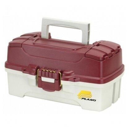 Ящик рыболовный PLANO 6201 с одноуровневой системой хранения приманок и двумя боковыми отсеками на крышке