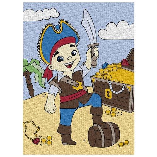 Школа талантов Картина по номерам Пират с сокровищами 21х15 см (4583515)