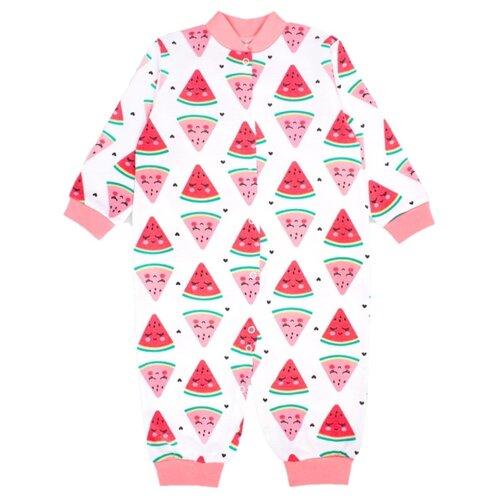Купить Комбинезон Веселый Малыш размер 86, красный/белый, Комбинезоны