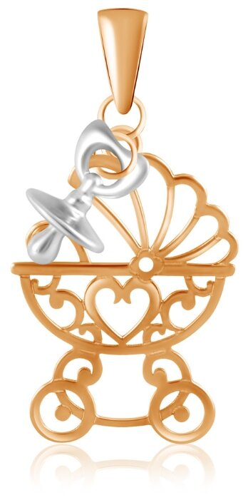 Бронницкий Ювелир Подвеска из красного золота Д0268-035111